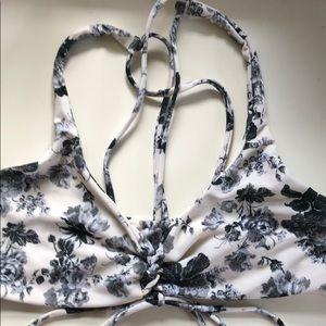 Boys + Arrows floral bikini top